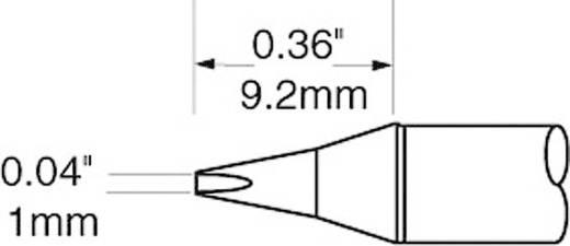 OK International SFV sorozat rövid, kétoldalt csapott, véső formájú pákahegy, forrasztóhegy 1.0 mm