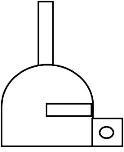 Forrólevegős HCT fúvóka (lapított) Ø 2,5 mm, OKI by Metcal H-D25-CON