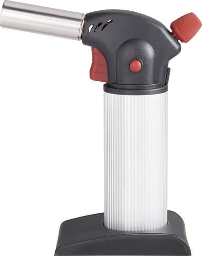 Gázégő, konyhai karamellizáló, flambírozó pisztoly, gáz utántöltő palackkal Toolcraft MAX850