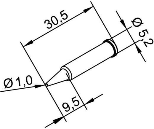 Ersa 102 pákahegy, forrasztóhegy 102 PD LF ceruza formájú hegy 1.0 mm