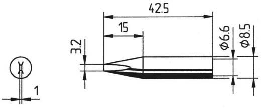 Ersa 842 pákahegy, forrasztóhegy 842 ED LF véső forma 3.2 mm