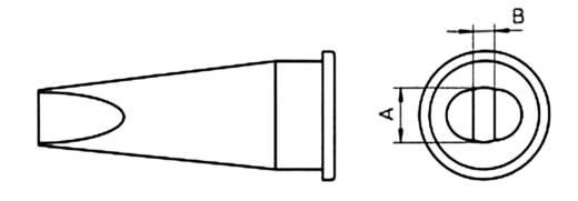 Weller LHT-C WSP 150 pákához rövid, kétoldalt csapott, véső formájú pákahegy, forrasztóhegy 3.2 mm