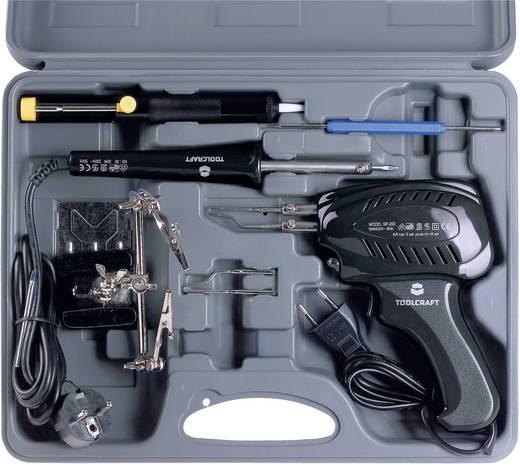 Forrasztópáka készlet, pisztolypáka készlet, pákahegy, forrasztópáka tartó, paneltartó, ónszívó pumpa Toolcraft SK 3000