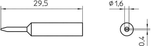 Pákahegy WXP 65-höz, véső, 1,6 mm, Weller XNT 6