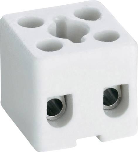 Porcelán sorkapocs, csavaros, 2 pólus, max. 2.5 mm², fehér, Adels-Contact 157/2