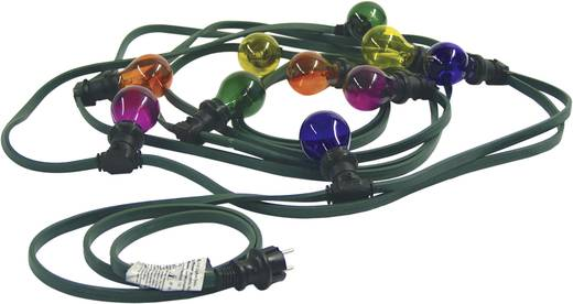 Kültéri fényfüzér, színes gömb izzó, 10 m, BL-10