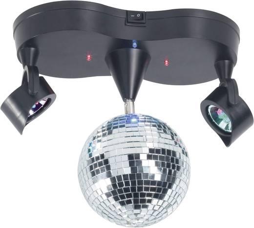 LED-es tükörgömb, diszkógömb fényeffekt, asztali, mennyezetre szerelhető Renkforce 1407923