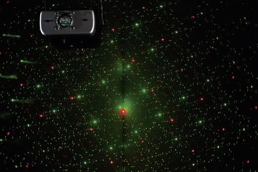 Lézer fényeffekt, mini diszkó lézer piros, zöld színben, beépített villogó stroboszkóppal Renkforce GLP-08