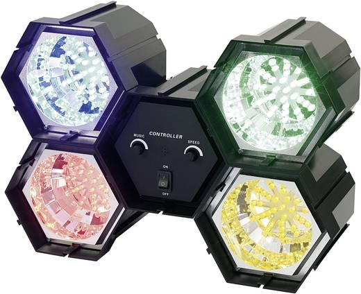 4 csatornás LED-es fényorgona piros/kék/zöld/sárga
