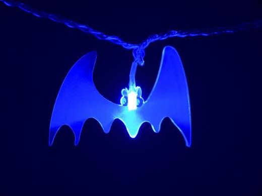 Denevér formájú LED-es dísz, 16 LED-del, 230 V, 4W, kék LED