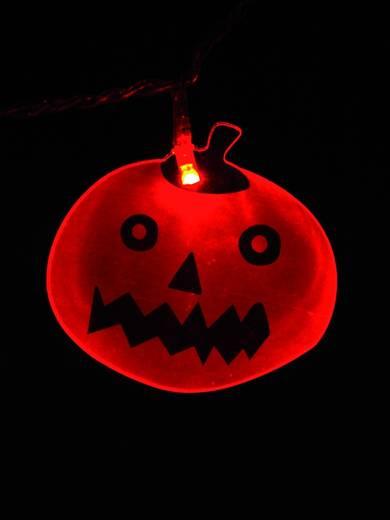 Beltéri LED-es karácsonyi fény, tök formájú díszekkel, 16 LED/25 cm/5 m