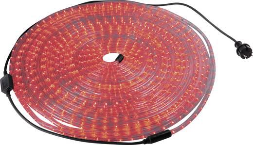 LED-es fénytömlő, fénykábel, fénykígyó, 13 mm x 10 m, piros, 230V IP44, Basetech