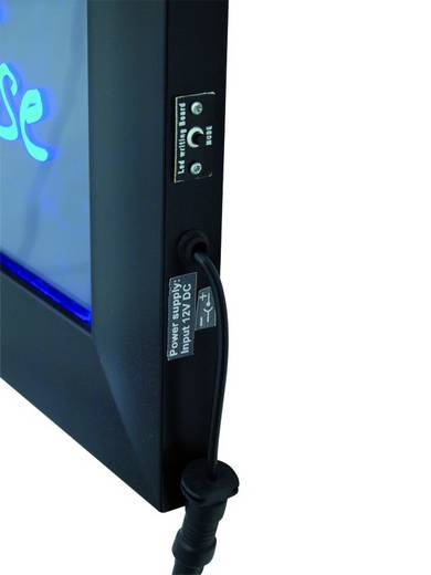 LED-es alu reklámtábla, 58 x 42 cm, Europalms 51931980