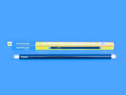 Feketefény-, UV fénycső, 8W G5 T5 5000h 300x16mm, Omnilux 89502005