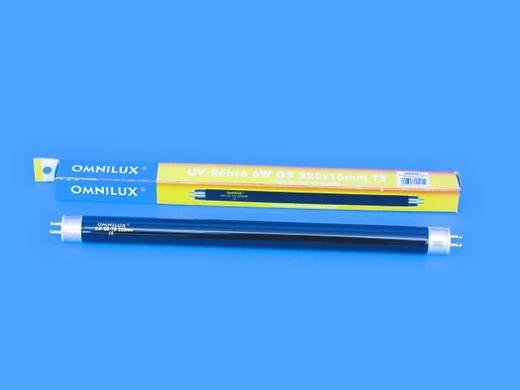 Feketefény-, UV fénycső, 6W G5 T5 5000h 220x16mm, Omnilux 89501005