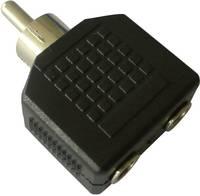 Átalakító, RCA dugóról 2 db 3,5 mm-es jack hüvelyre, SpeaKa SpeaKa Professional