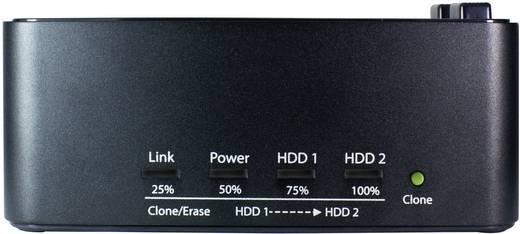 Merevlemez dokkoló állomás klónozó és törlő funkcióval USB 3.0 SATA 2 port, renkforce