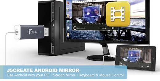 USB adatkábel, j5create Android Mirror