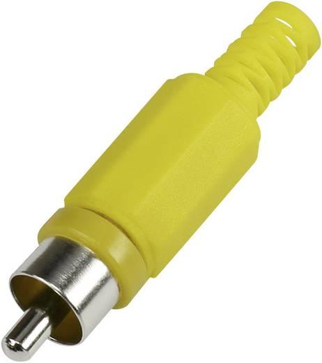 RCA csatlakozó dugó, egyenes pólusszám: 2 sárga 1 db