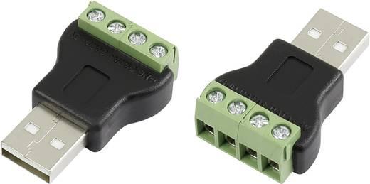 USB összekötő csavaros csatlakozóval Dugó, egyenes LT-USB4M USB dugó, A típusú Tru Components Tartalom: 1 db