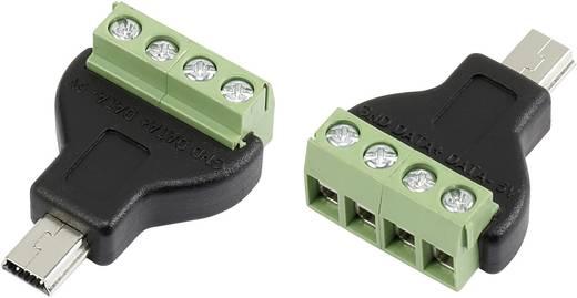 Mini USB csavaros csatlakozó dugó, egyenes, B típusú Tru Components 93014c933
