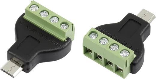 Mikro USB csavaros csatlakozó dugó, egyenes, B típusú Conrad 93014c934