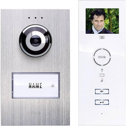 Vezetékes video kaputelefon rendszer, 1 családi házhoz, ezüst/fehér, m-e modern-electronics