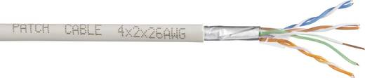 CCA hálózatikábel CAT 6, fehér, 4 x 2 x 0,27 mm², 100 m, Tru Components