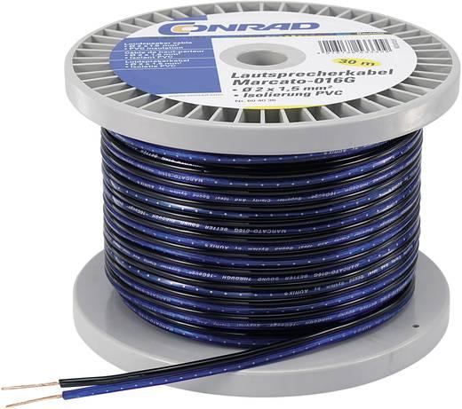 Hangszóró kábel 2 x 1,35 mm² kék/fekete, 100m, Conrad 93003c16