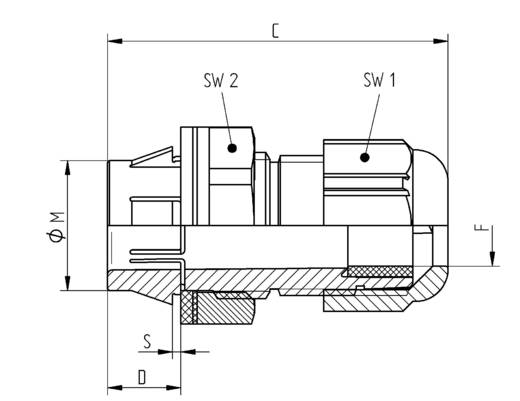 SKINTOP® CLICK tömszelence LappKabel L3112878 9 - 17 mm, M25, VDE / EN 50262, ezüst-szürke, RAL 7001, IP67
