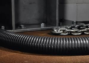 Acél védőtömlő Fekete 37.60 mm HellermannTyton 166-30706 PCS40 méteráru (166-30706) HellermannTyton