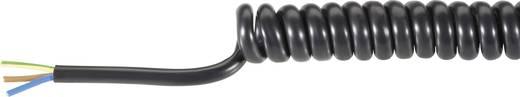 PVC spirálkábel 3X0,75MM² 300MM fekete
