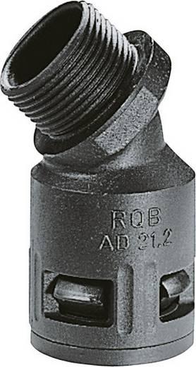Kábelcsatorna belső Ø: 29 mm, fekete (UV álló) SILVYN KLICK 45°B IP66 32x1,5 BK LappKabel