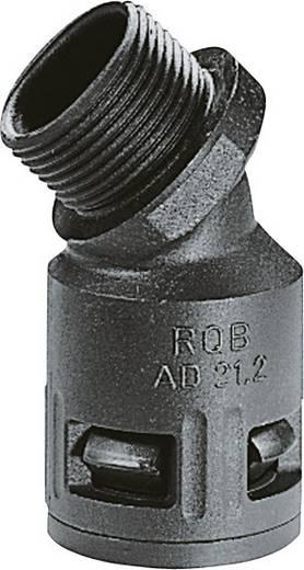 Kábelcsatorna belső Ø: 36 mm, fekete (UV álló) SILVYN KLICK 45°B IP66 40x1,5 BK LappKabel