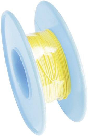 Tru Components Wire-Wrap vezeték 1x0,02mm², sárga, 15m
