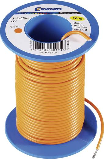 Tru Components LiY kapcsolóvezeték 1x0,75mm², sárga, 10m
