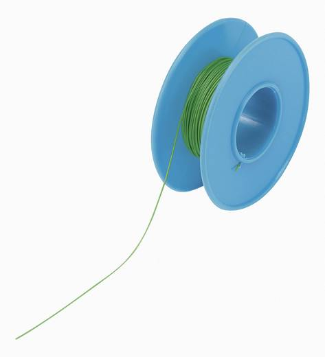 Tru Components Wire-Wrap vezeték 1x0,01mm², zöld, 15m