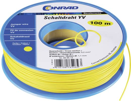 Kapcsolóvezeték Yv 1 x 0,2 mm² narancs, Conrad 93030c238 25 m