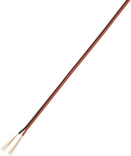 Szalagkábel, lapos 2 x 0,14 mm² Fekete, Piros 50 m Conrad