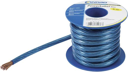 Hangszórókábel, hangfalkábel 1 x 6 mm² kék színben 5 m Tru Components