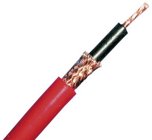 Szilikon koaxiális kábel, szilikon árnyékolással piros színben méteráruként MultiContact Silischirm SILI-SC