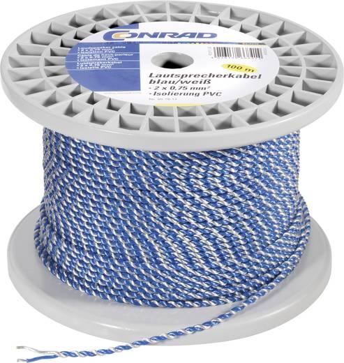 Hangszórókábel 2X0.75 QMM kék/fehér 100 M