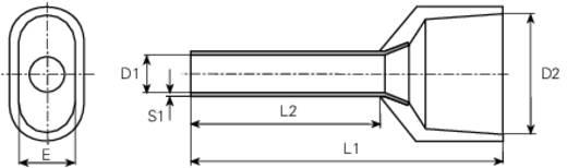 Érvéghüvely világoskék 2x0,75x8mm 100db