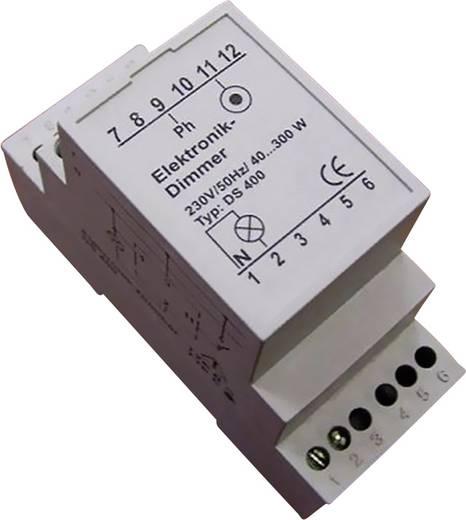 Elektronikus DIN sínre szerelhető dimmer, fehér, 40-300W, DS 400 B