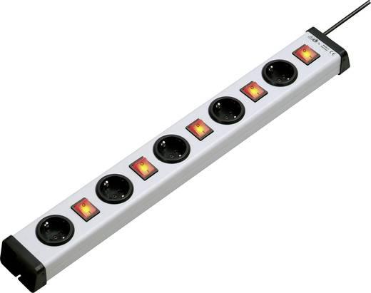 Külön kapcsolós elosztó világítós 5 részes alu szürke-fekete 1,5 m Ehmann 0202x00052301