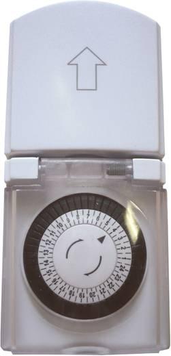GAO mechanikus mini napi időkapcsoló óra konnektorba, 3680W, min. 30 perc, IP44
