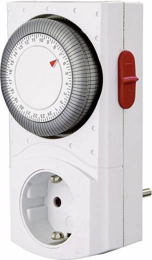 GAO mechanikus napi időkapcsoló óra konnektorba, 2 pólusú, 3680W, min. 15 perc, EMT2400