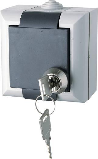 Kültéri IP44 védett zárható fedlapos falon kívüli konnektor, szürke színű GAO EFO600G/K Business Line