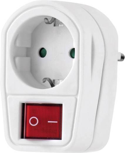 Köztes dugalj kapcsoló, 2 pólusú, fehér, Renkforce 1173536