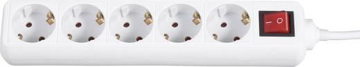 Hálózati elosztó túlfeszültség védelemmel, 5 részes, fehér, 1,8 m, 4,5 kA, Gembird SPG4-C-6